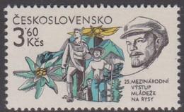 Czechoslovakia Scott 2372 1981 Anniversaries 3.60K Mountain Climbing, Mint Never Hinged - Unused Stamps