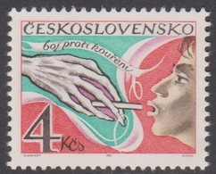 Czechoslovakia Scott 2383 1981 Antismoking Campaign, Mint Never Hinged - Unused Stamps