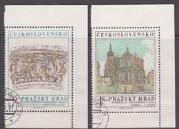 Czechoslovakia Scott 2384-2385 1981 Prague Castle Art, Used - Czechoslovakia