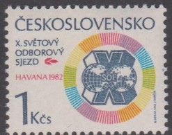 Czechoslovakia Scott 2396 1982 10th Trade Union Congress, Mint Never Hinged - Unused Stamps