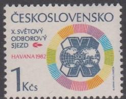 Czechoslovakia Scott 2396 1982 10th Trade Union Congress, Mint Never Hinged - Czechoslovakia