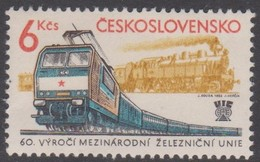 Czechoslovakia Scott 2402 1982 60th Railway Congress, Mint Never Hinged - Czechoslovakia