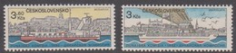 Czechoslovakia Scott 2424-2425 1982 European Danube Congress, Mint Never Hinged - Czechoslovakia