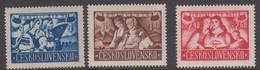 Czechoslovakia Scott B160-162 1946 Repatriated Svovaks, Mint Never Hinged - Czechoslovakia