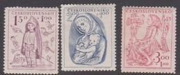 Czechoslovakia Scott B163-165 1948 Child Welfare, Mint Never Hinged - Czechoslovakia