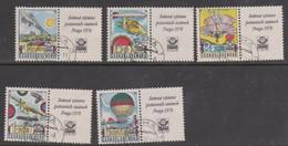 Czechoslovakia Scott C89-93 1977 Praga 78 Air Mail, Used - Used Stamps
