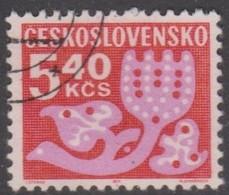 Czechoslovakia Scott J105 1972 Postage Due 5.40 Kcs, Used - Czechoslovakia