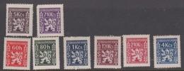 Czechoslovakia Scott O8-15 1947 Coat Of Arms, Mint Hinged - Czechoslovakia