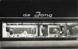 Carte-Photo Magasin De Prêt à Porter De Jong (Kledingwinkel) - Ville à Identifier, Amsterdam? - Negozi