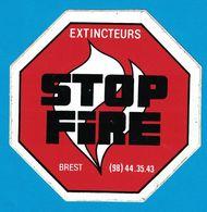 AUTOCOLLANT EXTINCTEURS STOP FIRE BREST - Autocollants