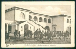 A1 MAROC MAROKKO MOROCCO MARRUECOS  CPA CASABLANCA - LE LYCEE LYAUTEY - Marrakech
