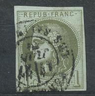 N°39 BORDEAUX CACHET A DATE. - 1870 Bordeaux Printing