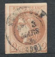 N°40 BORDEAUX CACHET A DATE. - 1870 Bordeaux Printing