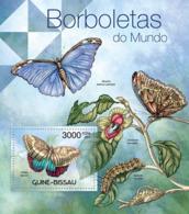 Guinea Bissau 2012 Butterflies Of The World Fauna - Guinea-Bissau