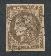N°47 BORDEAUX NUANCE ET OBLITERATION - 1870 Bordeaux Printing