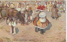 AK 0155  Trh Na Moravske Slovaci - Trachtengruppe / Künstlerkarte Um 1910 - Trachten
