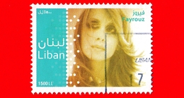 LIBANO - Libanon - Usato - 2011 - Persone Famose - Fayrouz, Cantante - 1500 - Libano