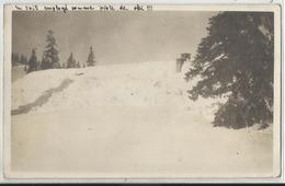 SAINTE-CROIX (Vaud) - Carte-photo - Un Toit De Maison Utilisé Comme Piste De Ski - 1923 - VD Vaud