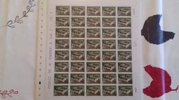 FEUILLE COMPLETE Y ET T 3081 TTB NON PLIEE 1997 (40 Timbres) - Feuilles Complètes