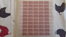 FEUILLES COMPLETES Y ET T 1340-1341 TTB 1962 - Feuilles Complètes