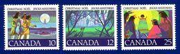 Canada 1977 Christmas Stamp Set (#741 - 3) MNH ! - 1952-.... Règne D'Elizabeth II