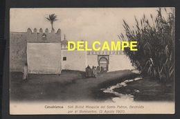 DD / MAROC / CASABLANCA / MOSQUÉE SIDI BELIOT , DÉTRUITE PAR LE BOMBARDEMENT DU 5 AOÛT 1907 / ANIMÉE - Casablanca