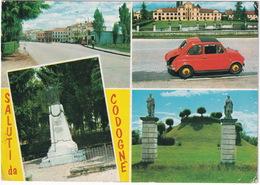 Saluti Da Codognè: FIAT 500 ABARTH - 'TOTAL' SERVICE-STATION - (Veneto, Italia) - Turismo