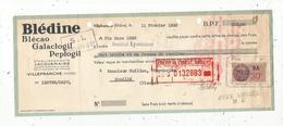 Lettre De Change, 1938 , BLEDINE , BLECAO ,GALACTOGIL , PEPTOGIL , JACQUEMAIRE ,Villefranche, Rhône ,frais Fr 1.55 E - Bills Of Exchange