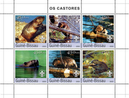 Guinea Bissau 2003 Beavers  Fauna - Guinea-Bissau