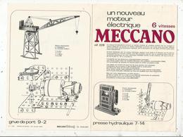 Manuel D'instruction , MECCANO ,un Nouveau Moteur électrique 6 Vitesses , 8 Pages , 2 Scans, Frais Fr 1.65 E - Meccano