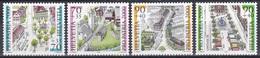 Schweiz Switzerland Helvetia 2000 Heimat Pro Patria Ortschaften Village Näfels Tengia Brugg Carouge, Mi. 1716-9 ** - Schweiz