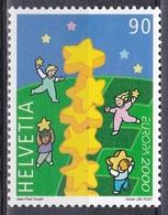 Schweiz Switzerland Helvetia 2000 Organisationen Europa CEPT Sternenturm Sterne Stars Kinder Children, Mi. 1720 ** - Schweiz