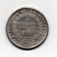Bolivia - 1867 - 1 Boliviano - RIPRODUZIONE - Vedi Foto - (MW2008) - Bolivia