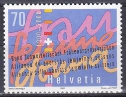 Schweiz Switzerland Helvetia 2000 Organisationen Frauenorganisationen Alliance F Frauen Gleichbereichtigung, Mi. 1721 ** - Schweiz