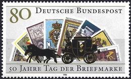 German Federal Republic 1986 - Stamp Day : Stagecoach ( Mi 1300 - YT 1128 ) MNH** - [7] République Fédérale