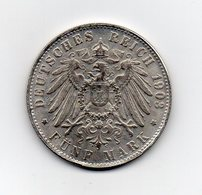 Germania - Deutsches Reich - 1908 - 5 Marchi - J - AMBURGO - RIPRODUZIONE - Vedi Foto - (MW2009) - [ 2] 1871-1918 : Impero Tedesco