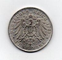 Germania - Deutsches Reich - 1908 - 5 Marchi - J - AMBURGO - RIPRODUZIONE - Vedi Foto - (MW2009) - 2, 3 & 5 Mark Argento
