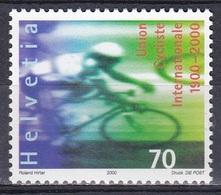 Schweiz Switzerland Helvetia 2000 Sport Radsportverband UCI Radrennen Bicycle Race Bahnradfahrer Radfahrer, Mi. 1715 ** - Schweiz