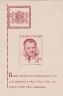 Czechoslovakia Scott 367 1948 President Gottwald Souvenir Sheet, Mint Hinged - Czechoslovakia