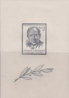 Czechoslovakia Scott 676 1954 Pres. Antonin Zapotocky 30h Souvenir Sheet, Mint Never Hinged - Czechoslovakia