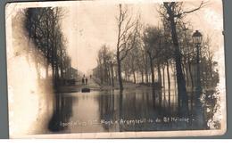 Cpa 95 Pont D'Argenteuil Vu Du Boulevard Héloïse Inondations De 1910 Déstockage à Saisir - Argenteuil