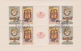 Czechoslovakia Scott 1129a 1962 Praga 62 World Stamp Expo, Souvenir Sheet, Used - Blocks & Sheetlets