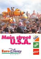 """¤¤  -  Lot De 4 Cartes Publicitaires """" EURO-DYSNEY """"   -  Mickey, Pluteau, Donald ........   -  ¤¤ - Disney"""