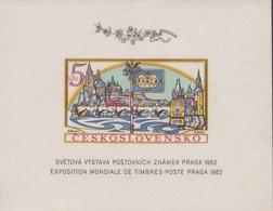 Czechoslovakia Scott 1134 1962 Praga 62 Souvenir Sheet, Imperforated, Mint Never Hinged - Czechoslovakia
