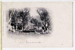 X38121 Env. BREIL-sur-ROYA (06) Quartier AGANDON Halte CHASSEURS ALPINS 1914 Cpaww1 - F.R 13 CHALLE Au Touriste Grenobl - Breil-sur-Roya