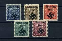 MAEHRISCH-OSTRAU 1939 Nr 1-5 Haftstelle/Falz (109796) - Besetzungen 1938-45