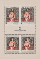 Czechoslovakia Scott 1546 1968 Cabaret Performer, Sheetlet, Mint Never Hinged - Blocks & Sheetlets