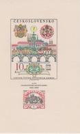 Czechoslovakia Scott 1554 1968 Praga 68 View And Emblems Souvenir Sheet, Mint Never Hinged - Czechoslovakia