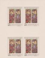 Czechoslovakia Scott 1637 1969 Alphons Mucha, Sheetlet, Mint Never Hinged - Blocks & Sheetlets