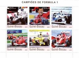 Guinea Bissau 2003  Formula 1, Racing Cars - Guinea-Bissau